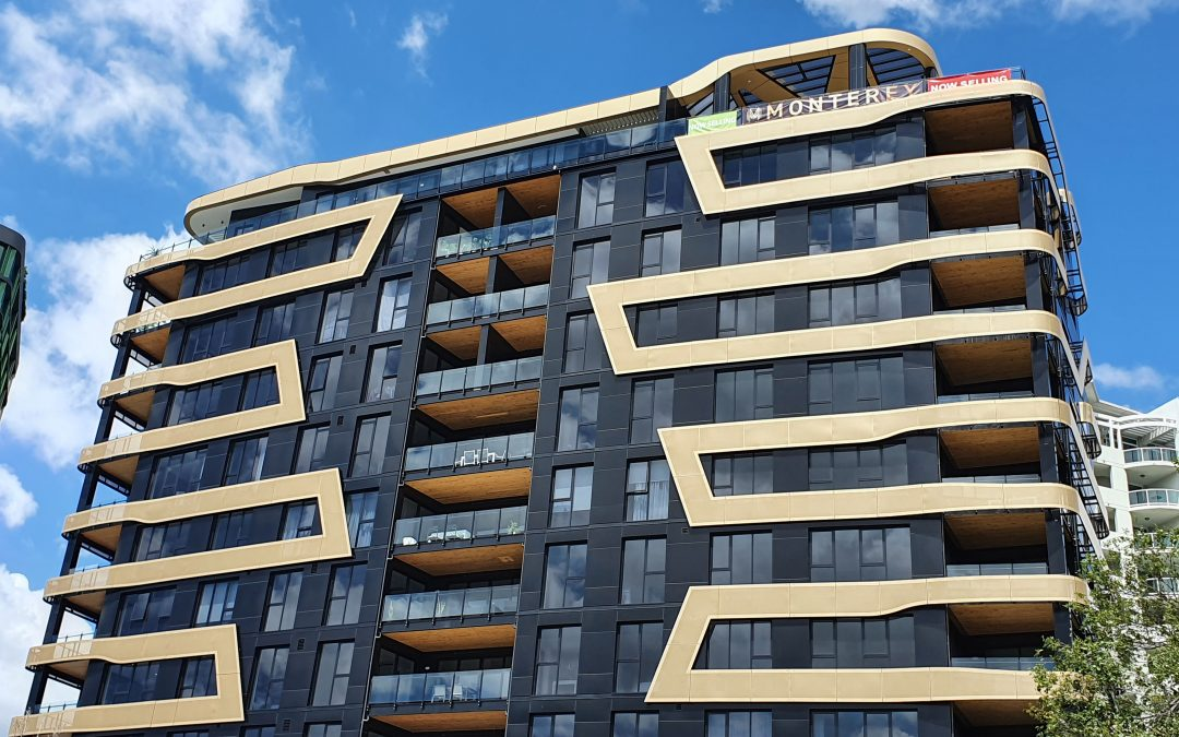 Iconic Monterey Apartments unveiled to the public with sophisticated Black and Gold Aodeli SAP panels